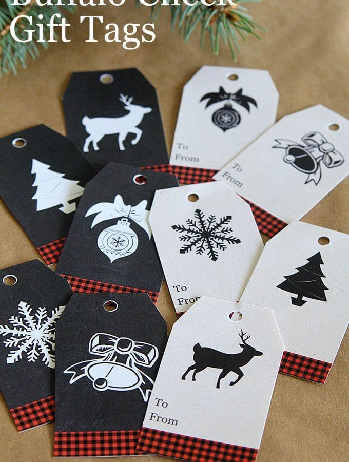 Buffalo Check Gift Tags Free Printable