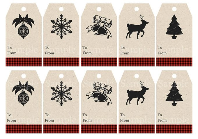 buffalo-check-gift-tags