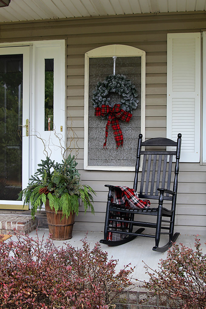 festive christmas porch decorations that transition easily from christmas to winter are found on our rustic - Christmas Porch Decor