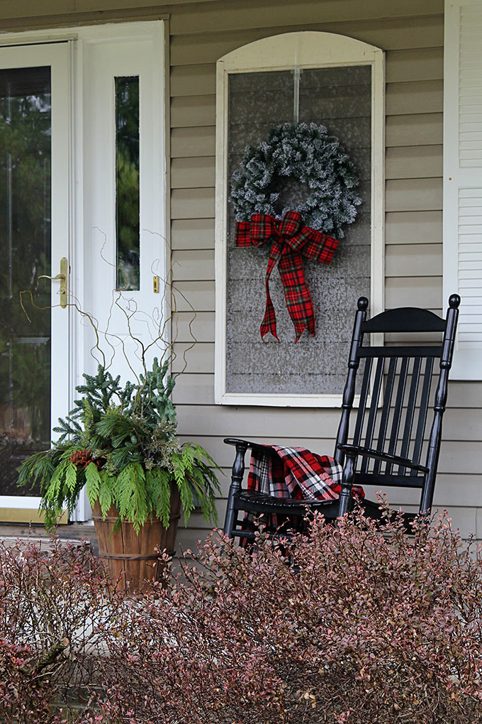 Festive Christmas Porch Decorations That Transition Easily From To Winter Are Found On Our Rustic