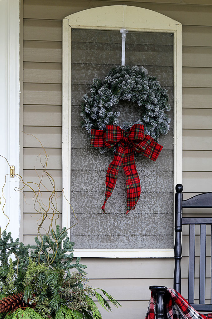 festive christmas porch decorations that transition easily from christmas to winter are found on our rustic