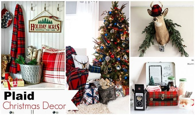 plaid christmas decor ideas for the holidays house of hawthornes