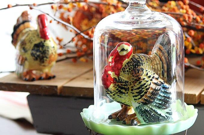 Vintage Thanksgiving Turkey Decor