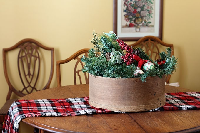 Cheese Box Christmas Centerpiece