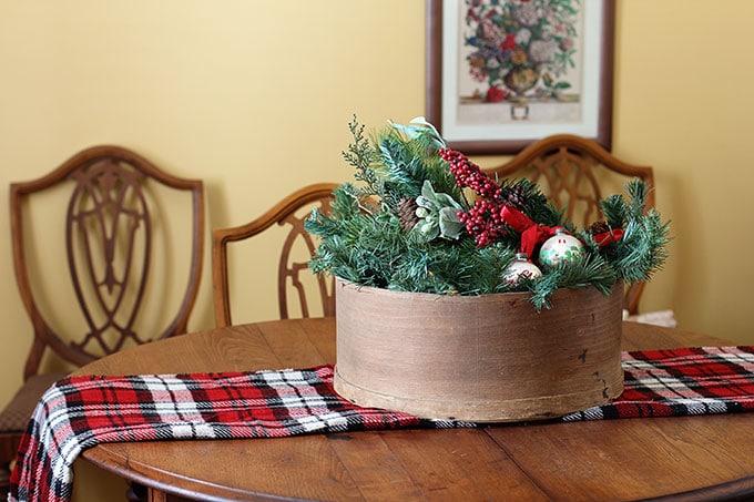Cheese Box Christmas Centerpiece