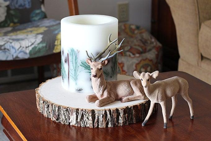 Vintage flocked Christmas deer