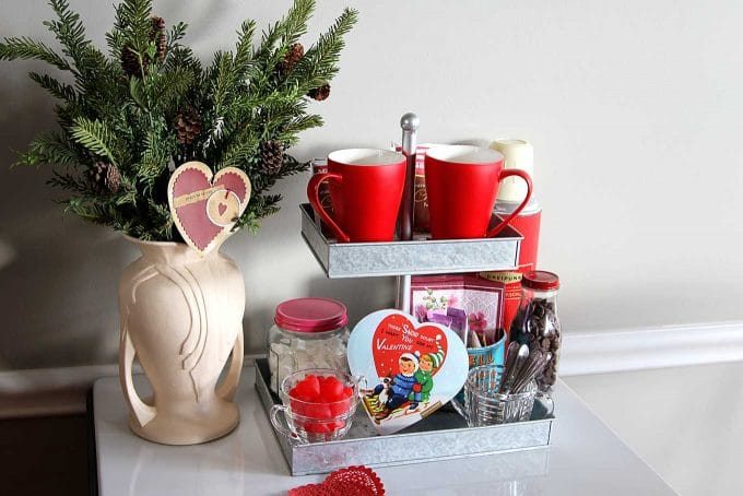 How to make a Valentines Day Hot Chocolate Bar for your sweetheart. A quick and easy way to warm up their heart!