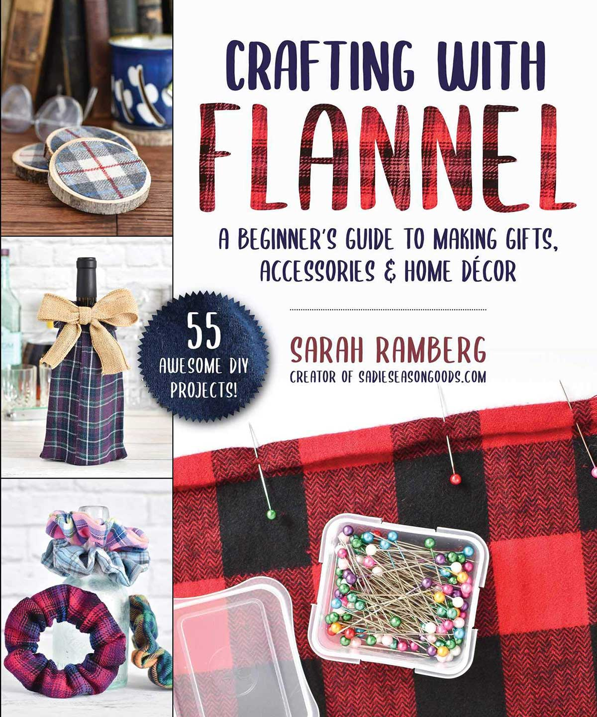 Book about crafting with flannel - upcycling projects using flannel
