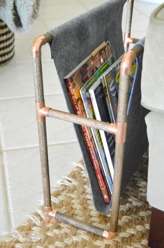 Copper pipe magazine holder