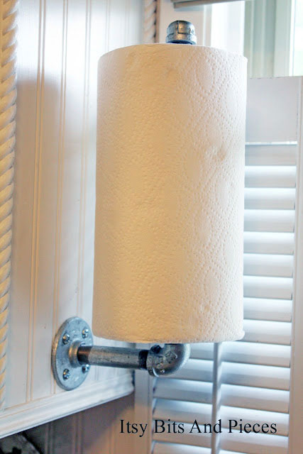Paper towel holder from industrial pipe