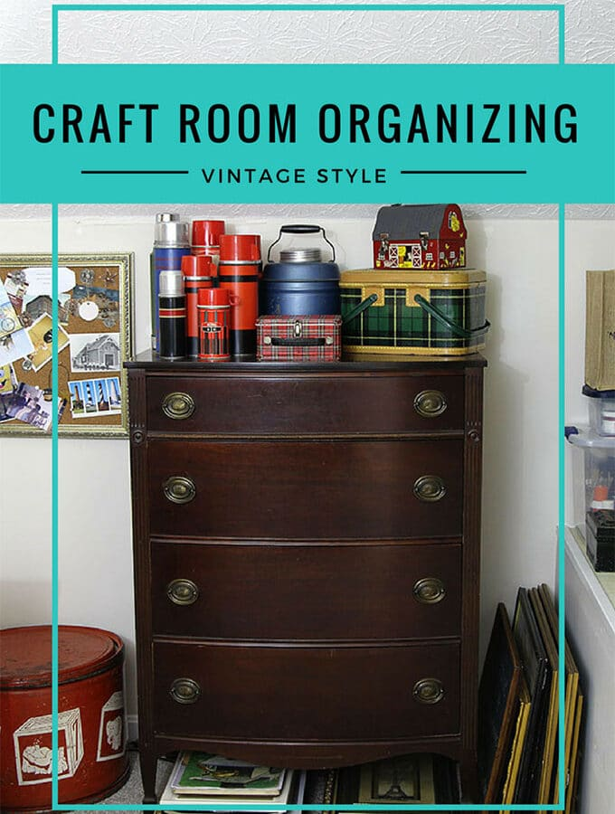 Home Office Organizing: Vintage Style