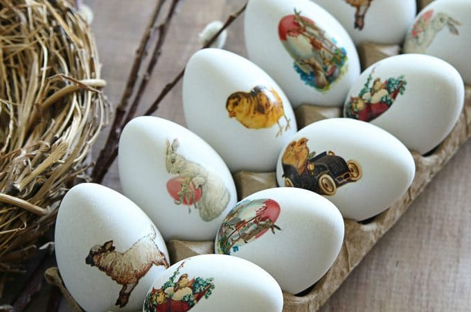 DIY Easter Egg Temporary Tattoos: Vintage Style