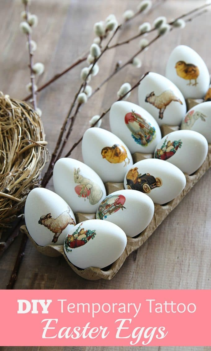 Vintage images on Easter Eggs.