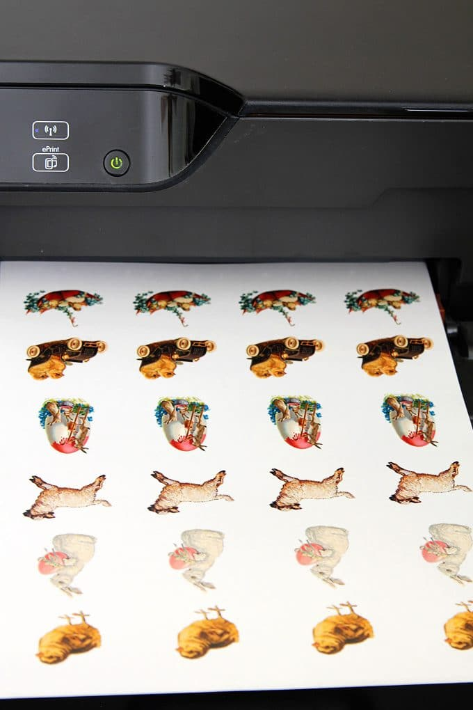 Printing Easter temporary tattoos
