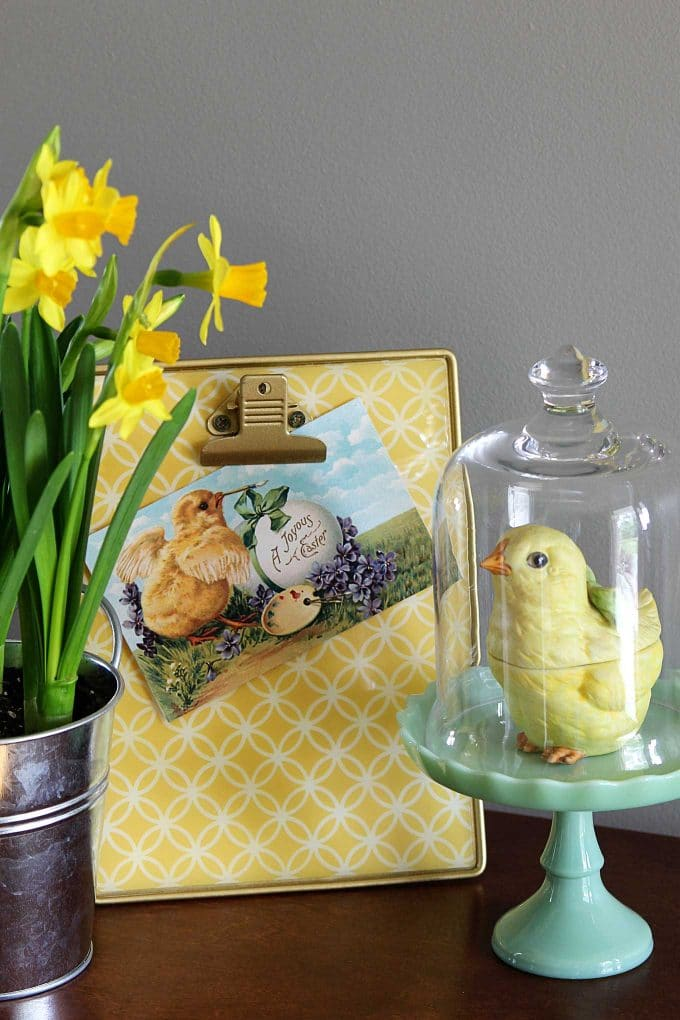 Vintage Easter image used in an Easter vignette