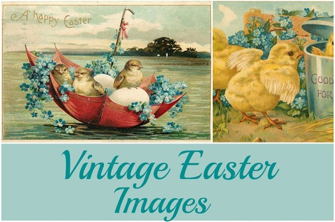 Vintage Easter Images: Adorable Free Printables