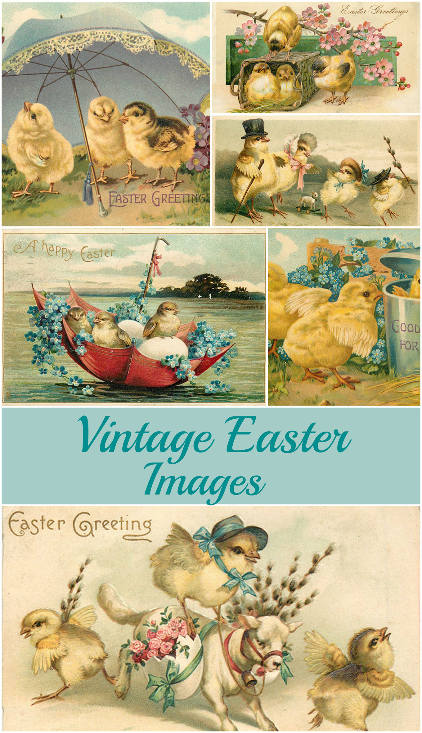 image regarding Free Vintage Printable named Basic Easter Photos: Lovable No cost Printables - Home of