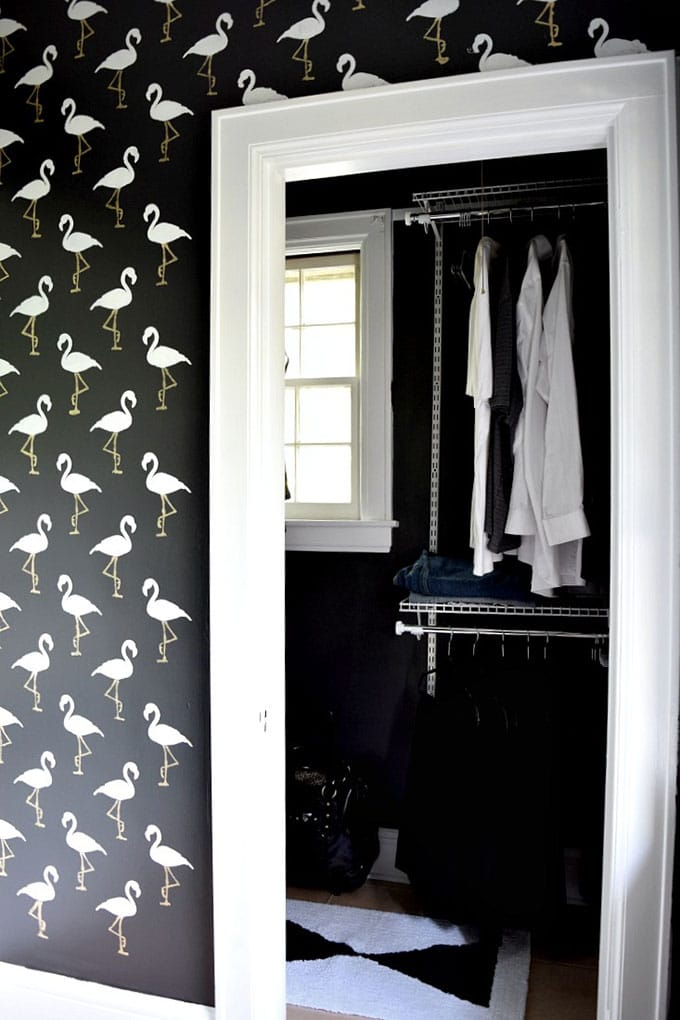 Flamingo wall stencils from Houseologie