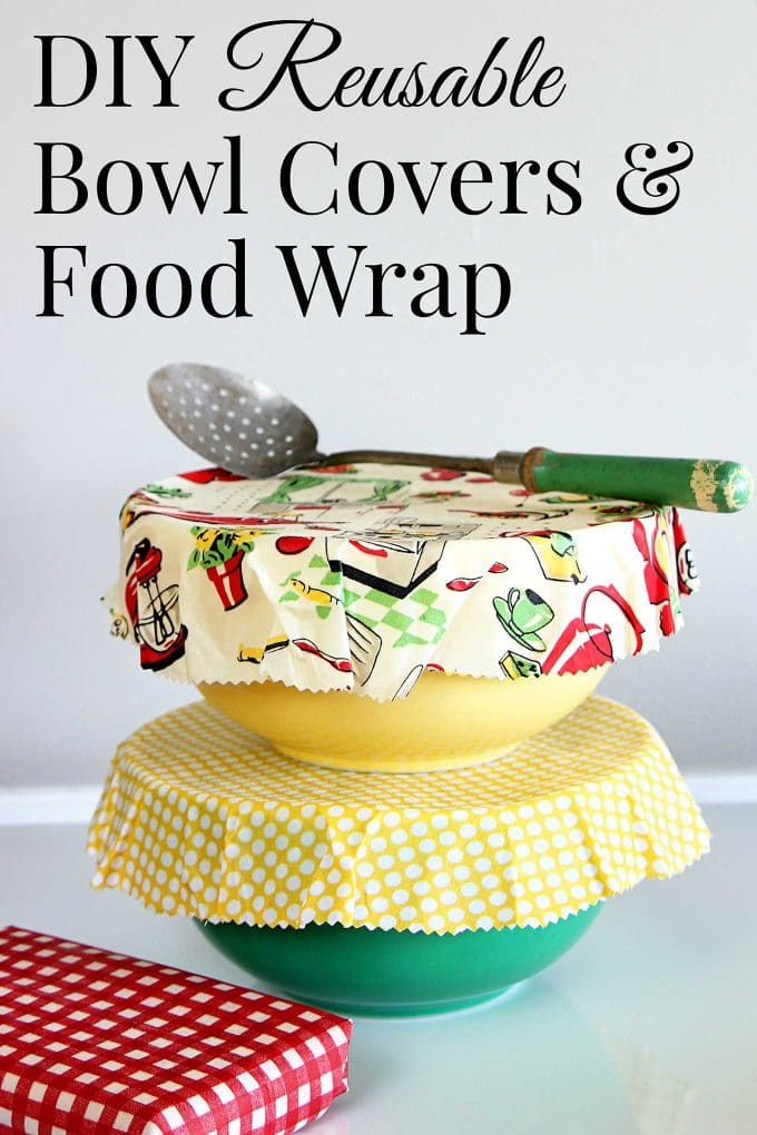 Beeswax DIY reusable bowl covers and food wrap are a simple eco-friendly alternative to plastic wrap. EASY to make, cute and great for summer picnics.