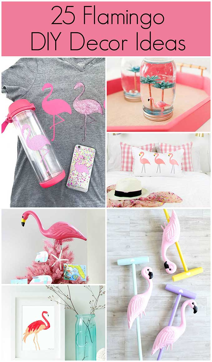 Pink flamingo DIY decor ideas