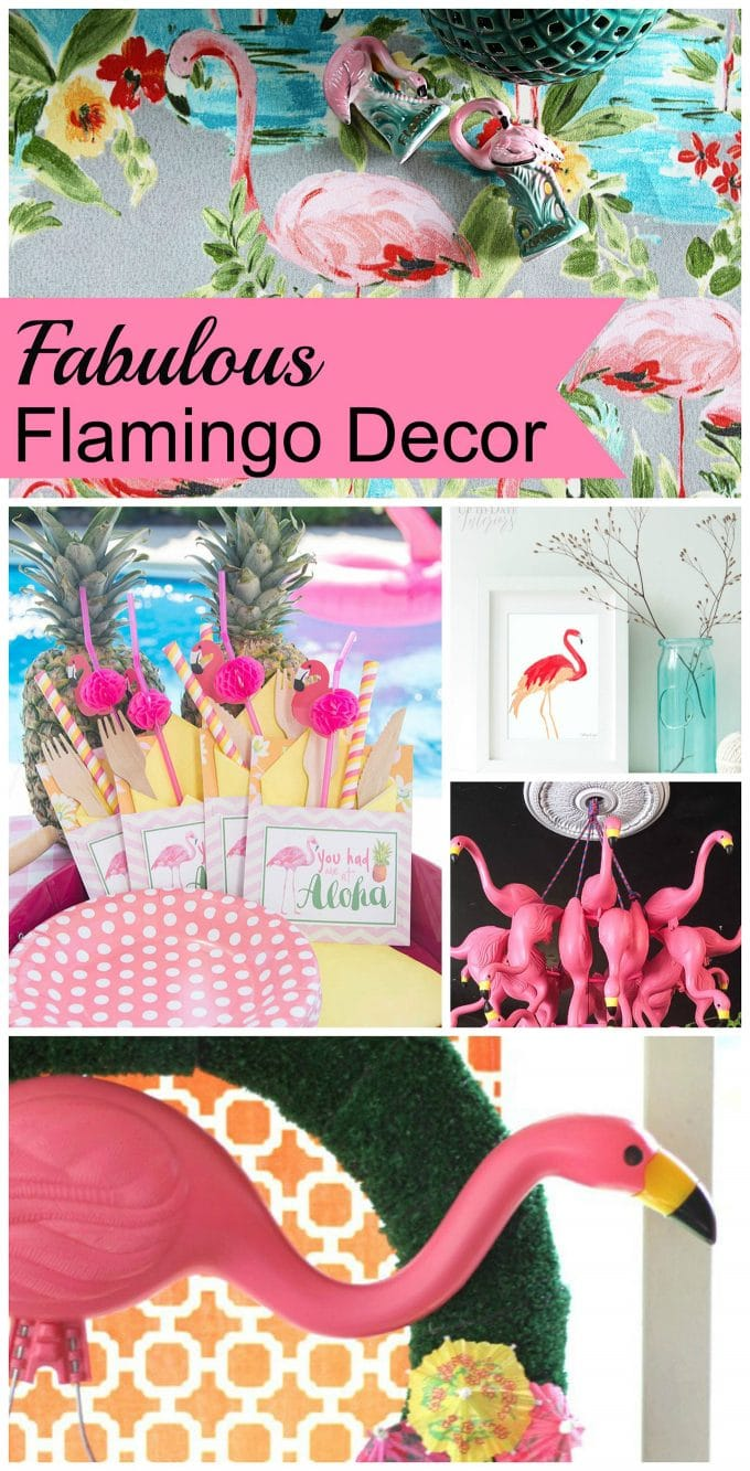 Pink flamingo decor and DIY project ideas for slightly kitschy, always fun, home decor ideas. Pink flamingo decor is HOT for summer patio decor also!
