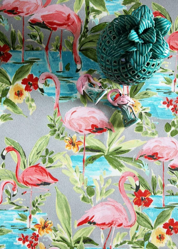 Pink flamingo fabric & Pink Flamingo Home Decor Ideas - House of Hawthornes