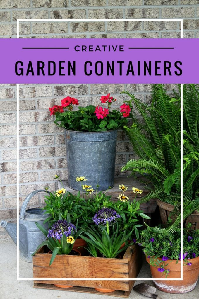 Using Creative Garden Containers For Your Porch This Summer Is A Great Way To Shake It