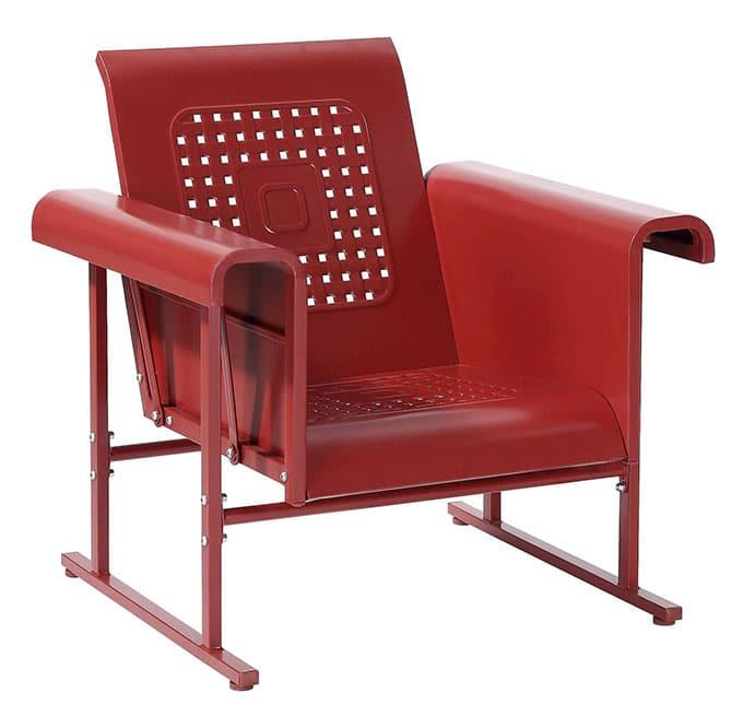 Crosley Veranda metal patio glider chair