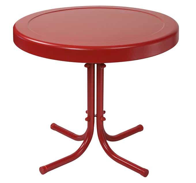 Crosley Veranda vintage metal patio table
