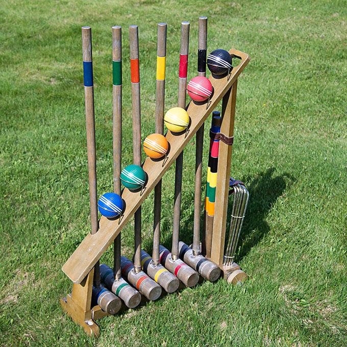 Franklin vintage croquet set