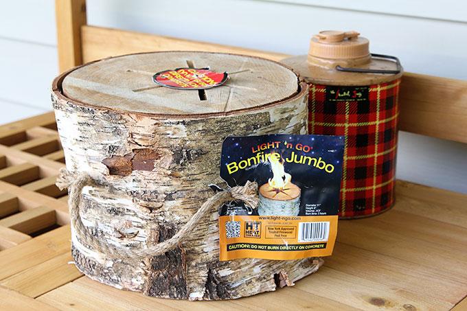 Using a bonfire log to create a succulent planter