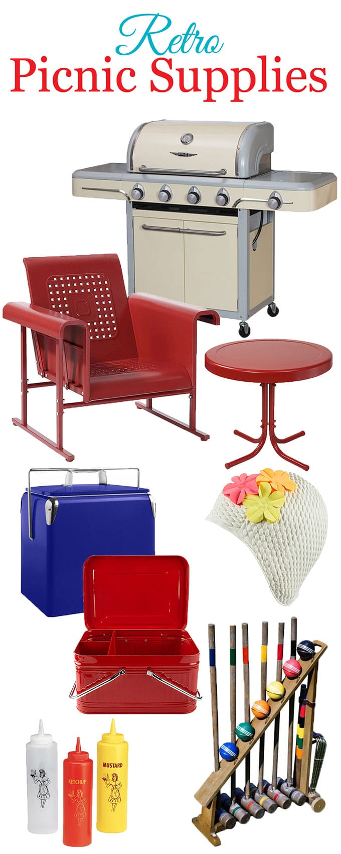 Go RETRO for your 4th Of July barbecue with some big and bold nostalgic picnic supplies.