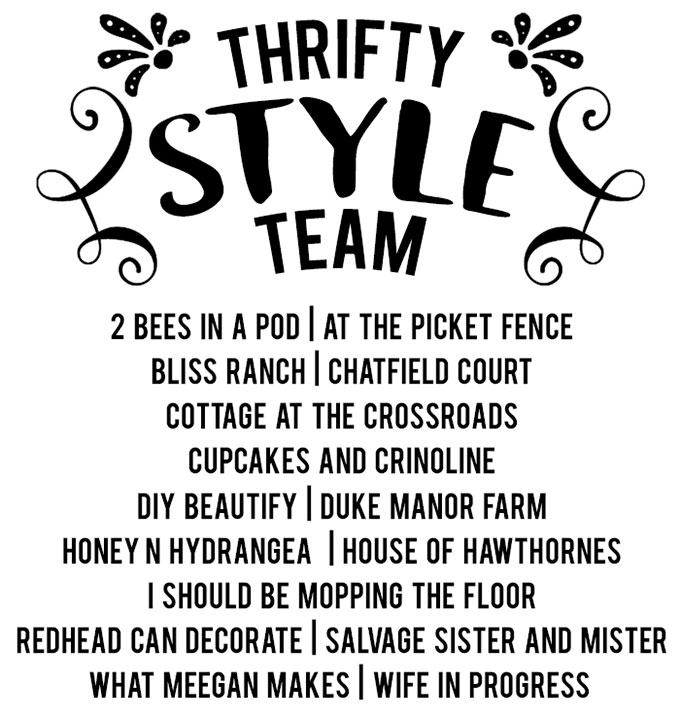 Thrifty Style Team - monthly thrift store repurpose challenge