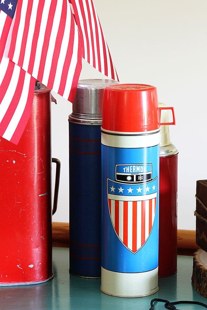 Vintage patriotic Thermos
