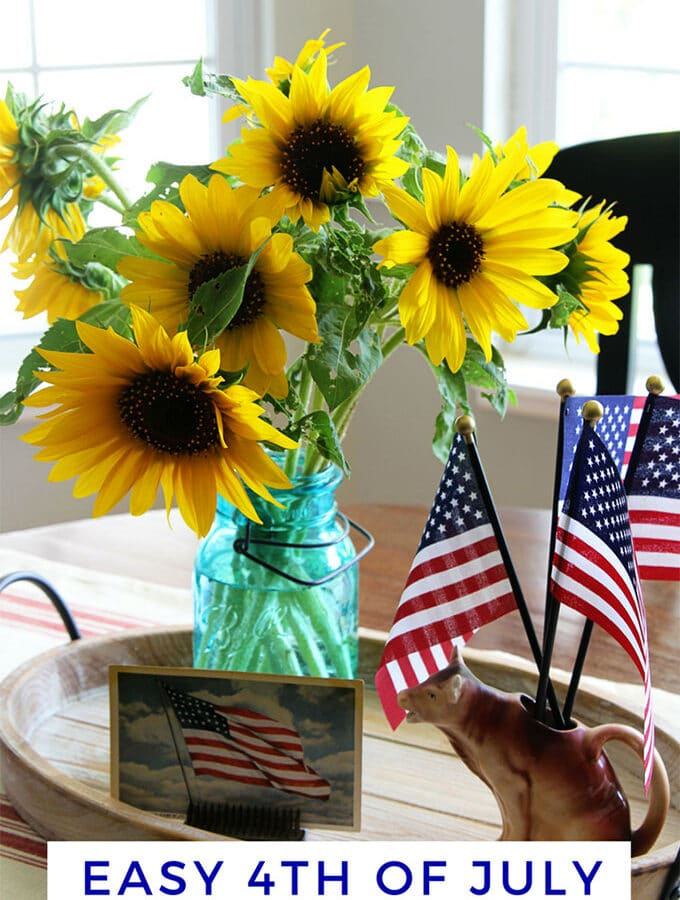 Vintage Eclectic Meets Farmhouse: 4th Of July Style
