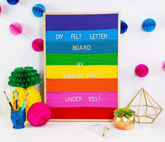 DIY felt letter sign board