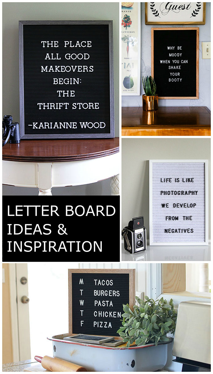 Jump on the letter board bandwagon and get some letter board inspiration and ideas for this HOT home decor trend. Including where to buy them.