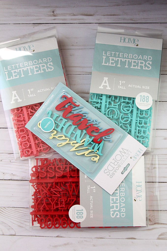 Plastic letters for letter boards