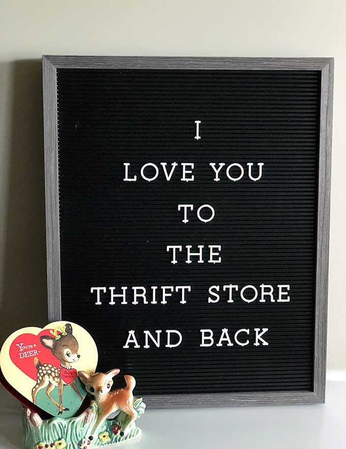 Valentine's Day letter board quote