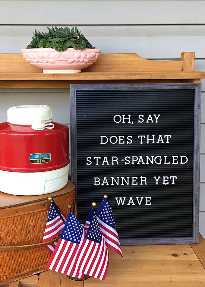 Patriotic quote for your letter board