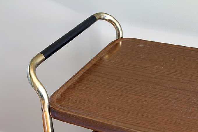Retro metal kitchen cart mid-century modern style