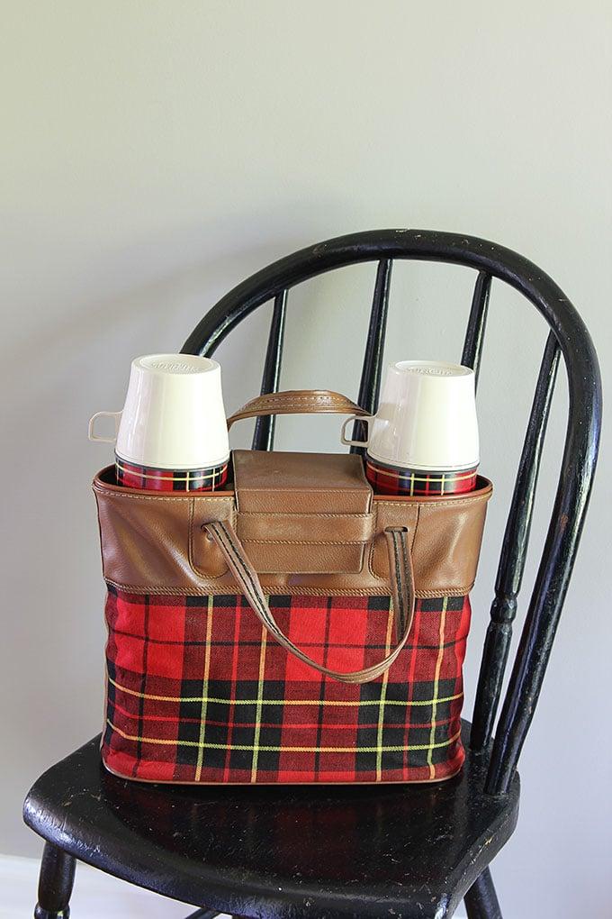 Thermos plaid picnic set