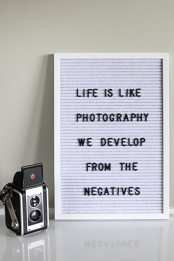 Photography quote for letter boards