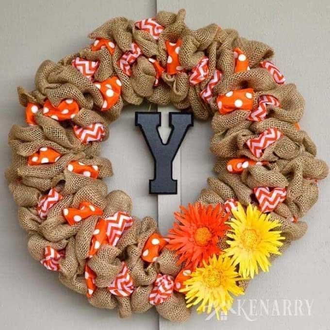 How to make a burlap wreath from Kenarry