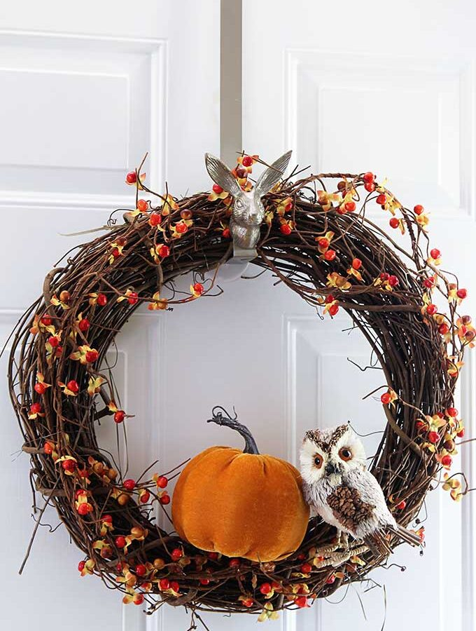 Easy To Make Fall Grapevine Wreath