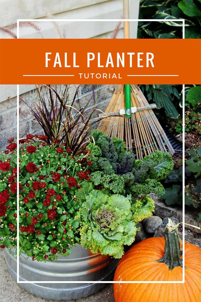 Quick and easy instructions for how to make fall outdoor planters for your porch or garden. Along with tips for the 10 best fall flowers for pots.