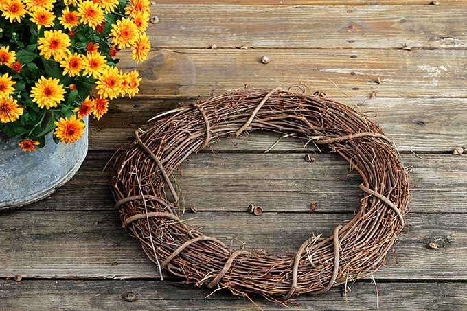 Grapevine wreath for your fall front door