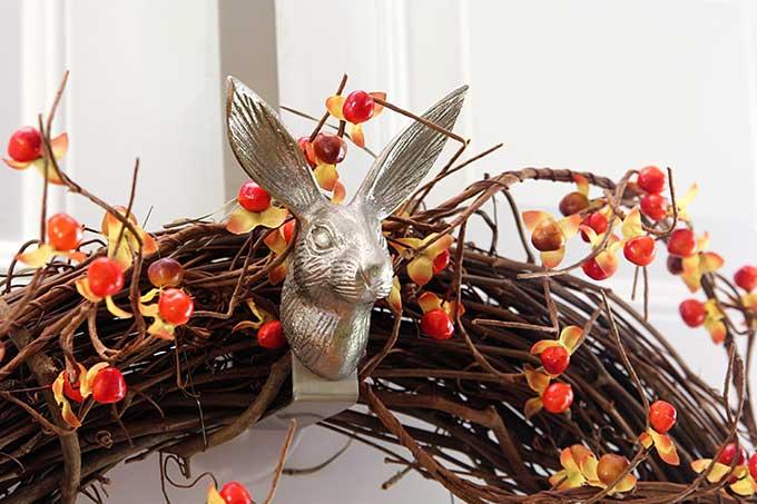 Fall grapevine wreath DIY