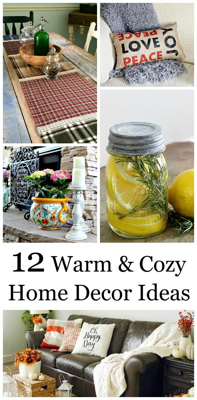 12 cozy home decor ideas to bring warmth into your house this season. Fall and winter are the perfect time to create a welcoming space for family and guests. #homedecor #homedecorideas #cozy #cozyhomedecor #decoratingideas