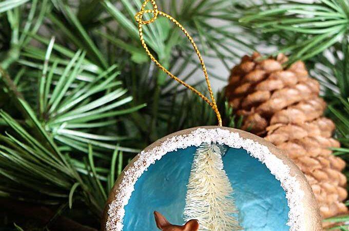 Retro Handmade Christmas Diorama Ornaments